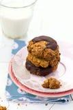 Печенья овсяной каши с шоколадом Стоковые Изображения