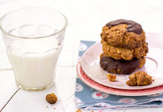 Печенья овсяной каши с шоколадом Стоковые Фотографии RF