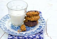 Печенья овсяной каши с шоколадом Стоковая Фотография