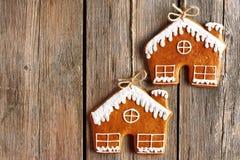 Печенья дома пряника рождества домодельные Стоковые Фотографии RF