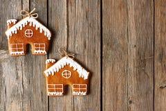 Печенья дома пряника рождества домодельные Стоковая Фотография