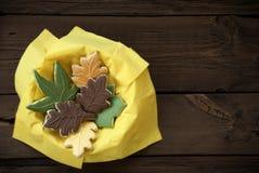 Печенья осени в шаре Стоковые Изображения RF
