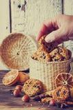 Печенья от семян сезама Стоковые Фотографии RF