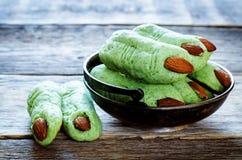 Печенья пальцев ведьмы хеллоуина Стоковое фото RF