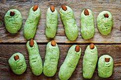 Печенья пальцев ведьмы хеллоуина Стоковые Фотографии RF