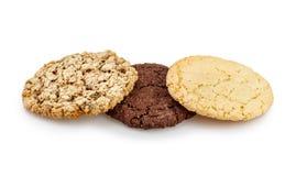 3 печенья печенья изолированного на белой предпосылке Стоковая Фотография RF