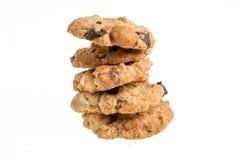 Печенья печенья шоколада домодельные изолированные на белой предпосылке Стоковые Фото