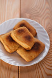 печенья покрывают белизну Стоковая Фотография