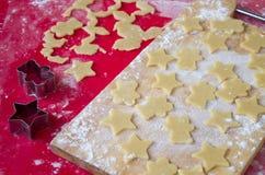 печенья подготовляя Стоковые Изображения