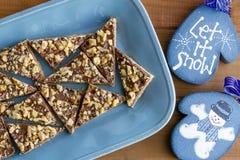 Печенья праздника Shortbread шоколада Стоковое Фото