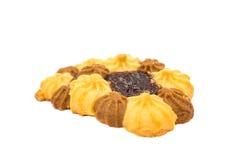 Печенья при изолированное варенье Стоковое Изображение