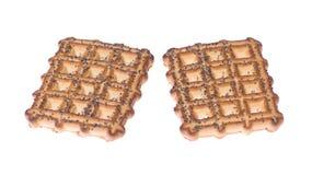 2 печенья при мак изолированный на белизне Стоковая Фотография