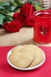 Печенья пряника в форме сердца Стоковые Изображения