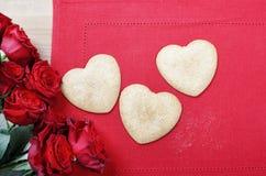 Печенья пряника в форме сердца Стоковая Фотография RF