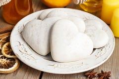 Печенья пряника в форме сердца Стоковая Фотография