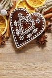 Печенья пряника в форме сердца Стоковое Изображение RF