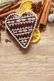 Печенья пряника в форме сердца Стоковое фото RF