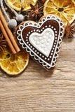 Печенья пряника в форме сердца Стоковые Изображения RF