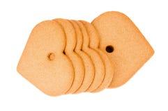 Печенья пряника в форме сердца Стоковые Фото