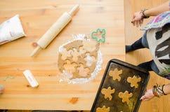 Печенья пряника готовые для печи Стоковое Изображение RF