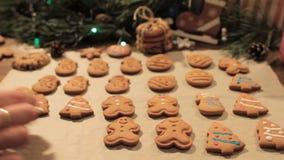 Печенья пряника Кристмас сток-видео