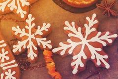 Печенья пряника Кристмас Стоковое Изображение