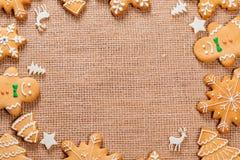 Печенья пряника рождества домодельные Стоковая Фотография