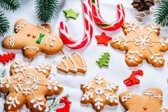 Печенья пряника рождества домодельные Стоковая Фотография RF