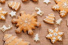 Печенья пряника рождества домодельные Стоковые Фотографии RF