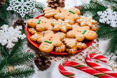 Печенья пряника рождества домодельные Стоковые Изображения RF
