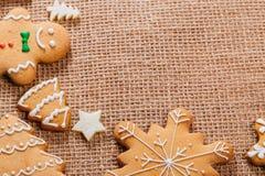 Печенья пряника рождества домодельные Стоковое Изображение