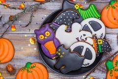 Печенья пряника хеллоуина стоковое фото rf