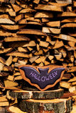 Печенья пряника хеллоуина домодельные на деревянной предпосылке Стоковые Фотографии RF