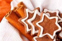 Печенья пряника шоколада с замороженностью Стоковые Фотографии RF