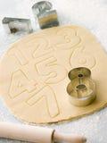печенья режа номер вне формируют стоковая фотография rf