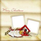 печенья рождества карточки старые Стоковые Изображения