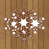 Печенья рождества на деревянной предпосылке Стоковая Фотография RF