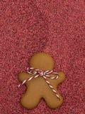 Печенья рождества на красной предпосылке яркого блеска ароматичные специи gingerbread печений рождества выпечки Делать печенья ро Стоковая Фотография