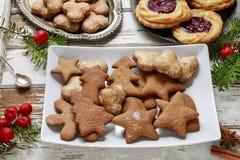 Печенья рождества пряника стоковые фотографии rf