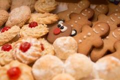 Печенья рождества различных форм Стоковое Фото