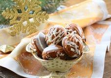 Печенья рождества с белым шоколадом Стоковое фото RF