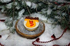 Печенья рождества с головой оленей mastic Стоковая Фотография RF