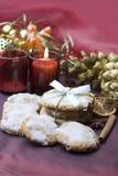 печенья рождества украсили таблицу Стоковые Изображения RF