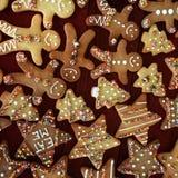 Печенья рождества украшенные для детей стоковое изображение rf