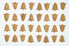 Печенья рождественской елки на белой предпосылке Стоковые Фото