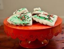Печенья рождественской елки стоковые изображения rf