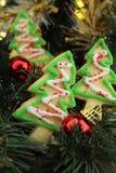 Печенья рождественской елки Стоковые Фотографии RF