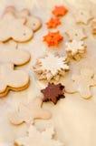Печенья рождества выпечки Стоковые Изображения