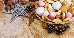 Печенья рождества в плите Стоковое фото RF