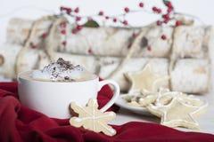 Печенья рождества капучино Стоковые Фото